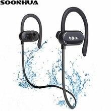 SOONHUA IPX7 À Prova D' Água Gancho Fone de Ouvido Sem Fio Fones de Ouvido Bluetooth Esportes fone de Ouvido Baixo Com Microfone Handsfree para iPhone Xiaomi