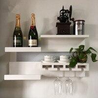 solid wood Wall hung wine rack, Wine glass rack The restaurant hanging locker storage rack goblet