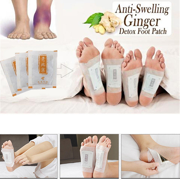 50 Pcs Detox Foot Patch Body Relax Swelling Ginger Chinese Herbal Adhesive Pads SSwell50 Pcs Detox Foot Patch Body Relax Swelling Ginger Chinese Herbal Adhesive Pads SSwell