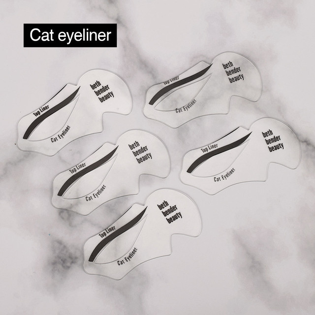 ATOMUS 10pcs DIY Eye Liner Accessories Reusable Eyeliner Stencil Template Card Makeup Tools Moldel Drawing Guide Styling Shaping 5
