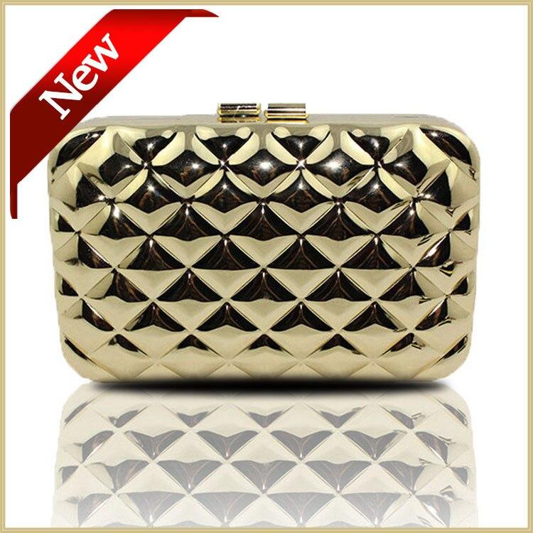 New Womens Wallets And Purses Metallic Geometric font b Clutch b font Bags Fashion Box font