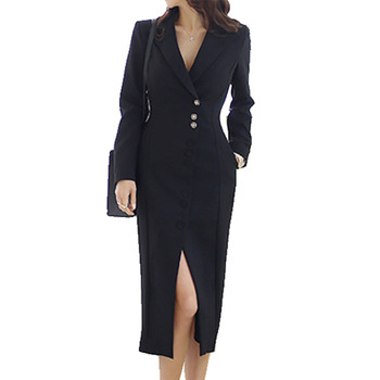 Women Elegant Dresses Office Blazer Black Dress Formal Wear 2019 New Jacket Suit Spring Sexy Suit Ladies Dresses Women Clothes formal wear