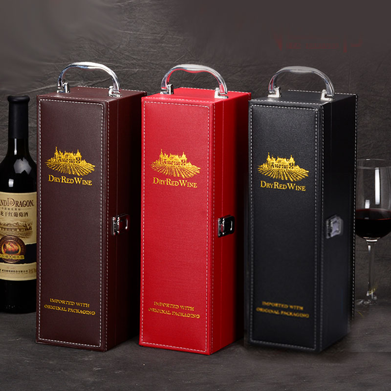 Us 21 51 10 Off Aliexpress Com Buy High Grade Red Wine Gift Packing Box Single Bottle With Cocktail Set Wine Set Best Gift Package Well Appearance