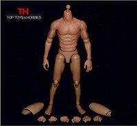 1/6 Skala Mężczyzna Muskularne Ciało Rysunek Nude Wąskie Ramię Figury azjatyckie Kolor dla Donnie Jena Bruce Lee Figurka Doll zabawki
