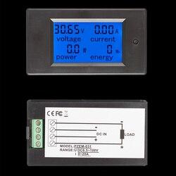 DC cyfrowy DC 6.5 100V 0 20A LCD wyświetlacz cyfrowy prąd napięcie zasilania licznik energii multimetr amperomierz Voltmete w Liczniki energii od Narzędzia na
