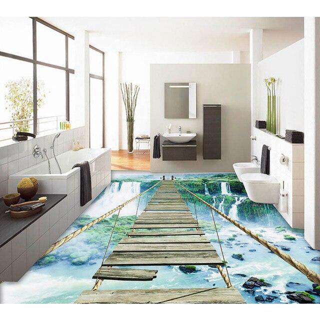 Us 2951 18 Off3d Boden Aufkleber Tapete Kundenspezifische Wasserfall Foto Pvc Tapete Für Wohnzimmer Küche Selbstklebende Wasserdichte Tapete 363