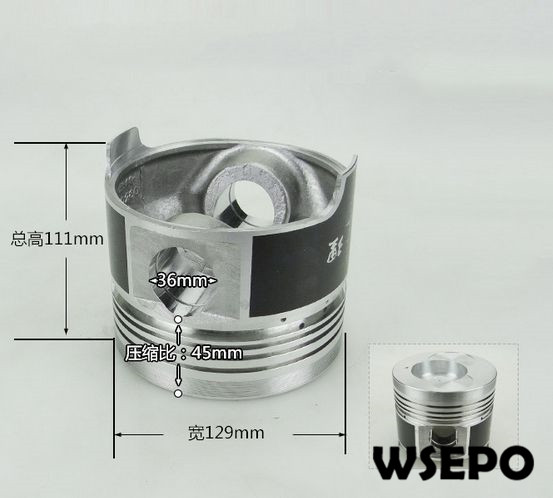 OEM Quality! Piston for ZH1130 4 Stroke Single Cylinder Small Water Cooled Diesel EngineOEM Quality! Piston for ZH1130 4 Stroke Single Cylinder Small Water Cooled Diesel Engine