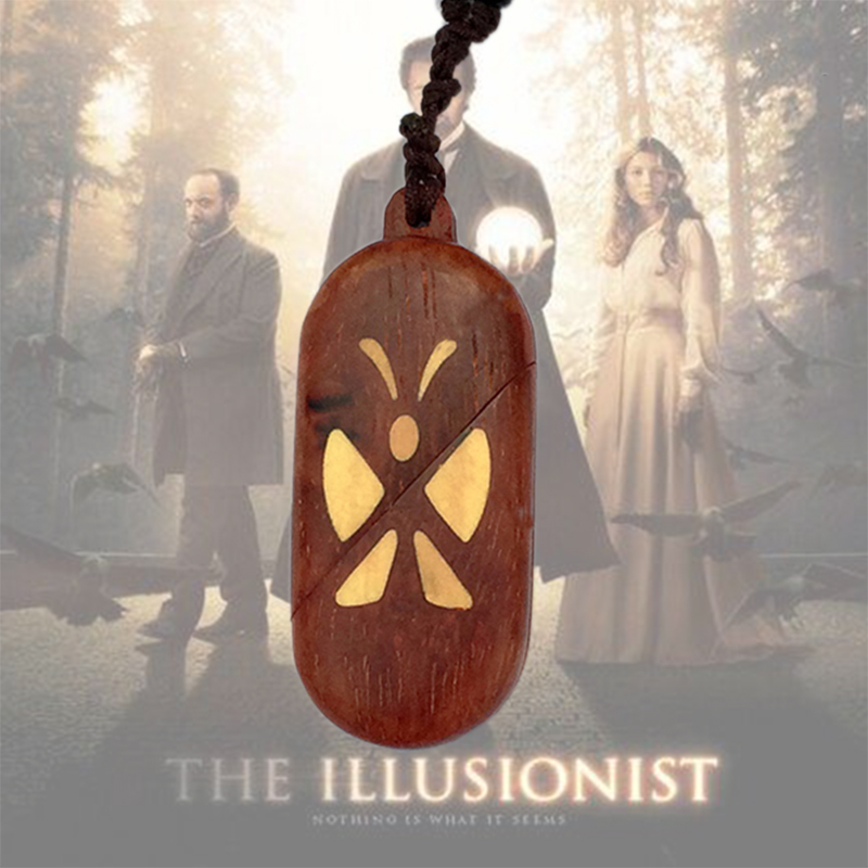 The Illusionist Locket Butterfly Pterocarpus Pendant Necklaces Magic Butterfly Trick Christmas Valentine's Day Gift Women Girl