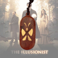 The Illusionist Locket Butterfly Necklaces Wood Pendant Magic Butterfly Christmas Valentine's Day Gift Women Girl Gift Pack
