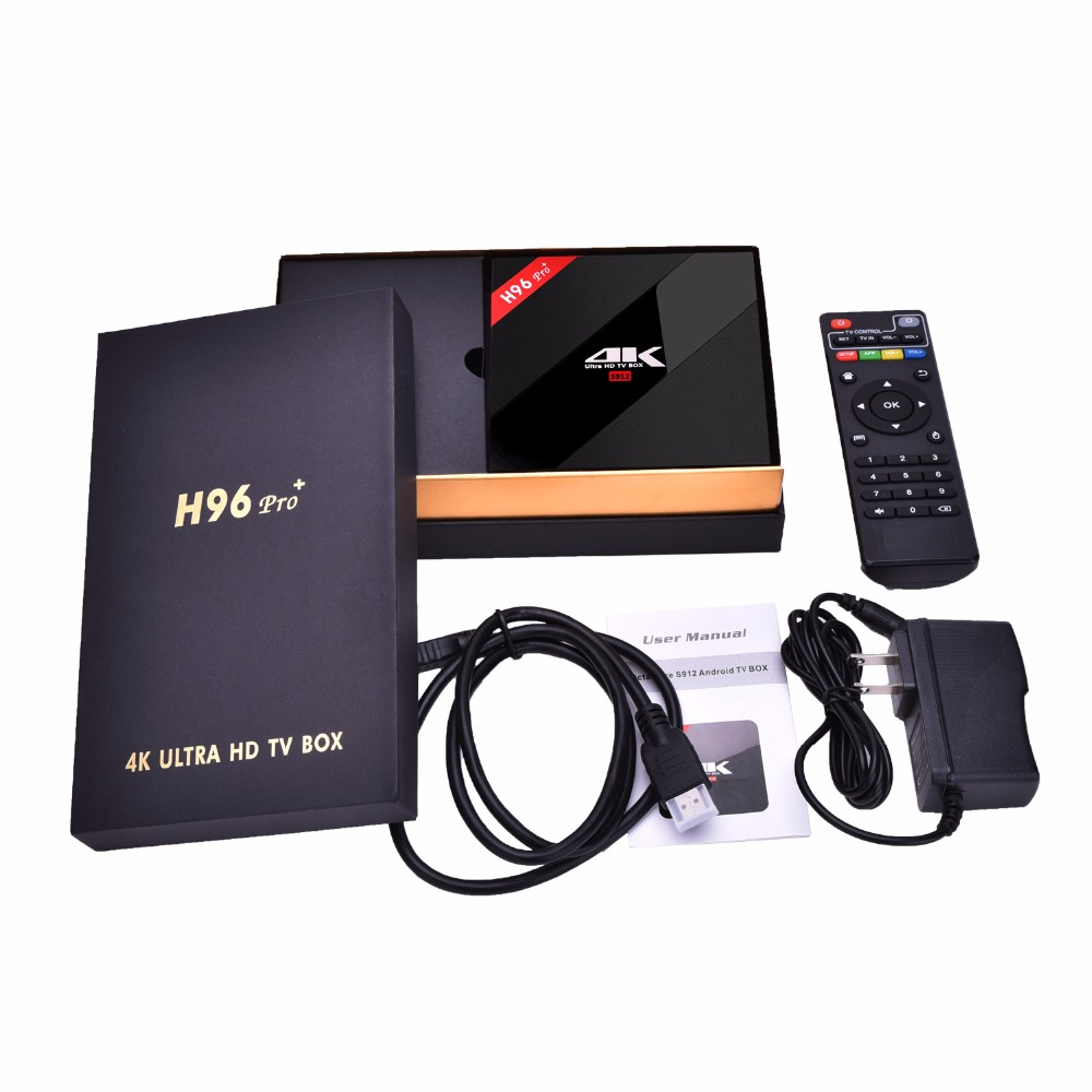 US $118 5 21% OFF|Spanish IPTV box H96 Android 7 0 TV Box Amlogic S912 Octa  Core 3G/32G HDMI 2 0 4K 1080P 20,00 VOD France German UK smart tv box-in