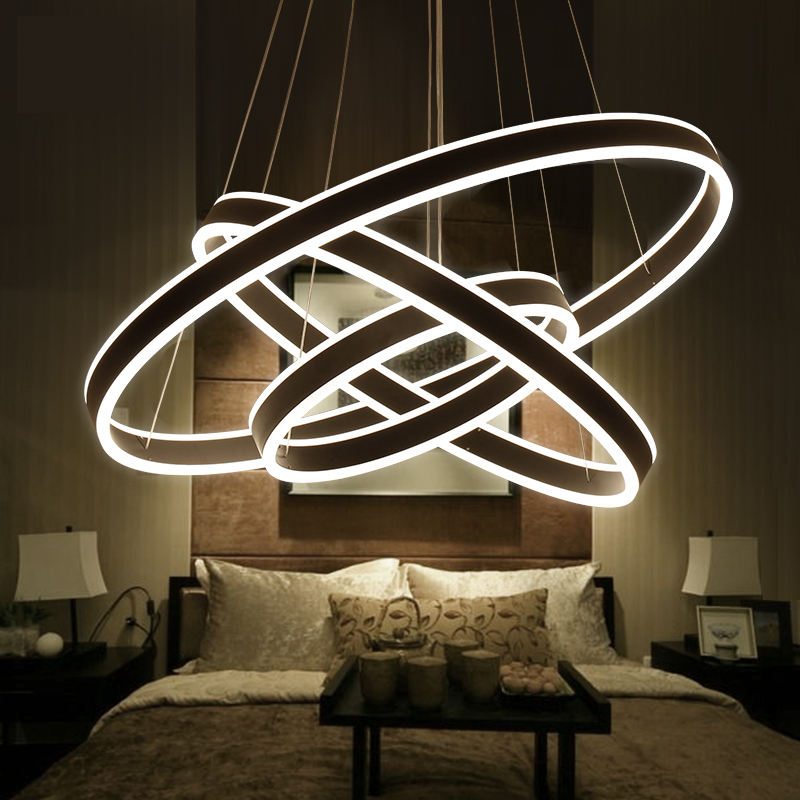 Modern pendant lights for living room dining room Circle Ring Smart Home decoration LED Lighting ceiling Lamp fixtures стол мастер триан 41 венге дуб молочный мст уст 41 вм дм 16