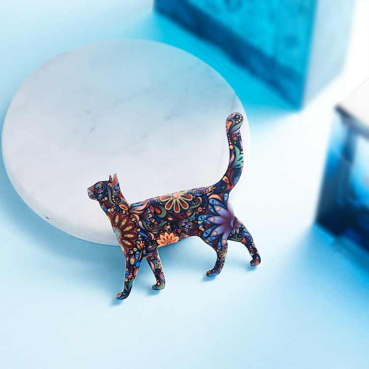 Kucing Lucu Pin Hewan Akrilik Bros untuk Wanita Bros Perhiasan Enamel Pin Natal Hadiah untuk Wanita Brocade Kerah BTS Kerah pin