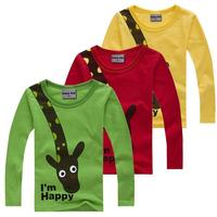 Long Sleeve Kids T-shirts for Boys Girls 2017 New Spring Autumn Casual Children T Shirts Cartoon Animal Toddlers Tops Tees