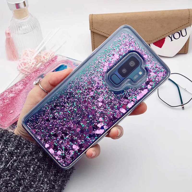 for Samsung Galaxy S9 case Back cover Bling Glitter Dynamic Quicksand Liquid Case for samsung S9 plus cover Galaxy S9 coque (18)