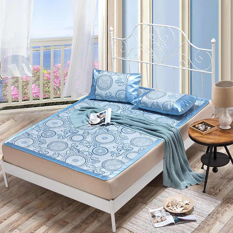 Летний охлаждающий коврик, комплект для простыней, складные простыни, подстилка-кровать, чехол для лета, ротанговый коврик 1,8 м, 1,5 м, кровать, летний комплект белья, коврик