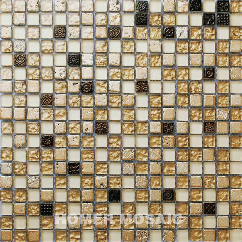 Surface Carving Patterns 3D Mosaic, Brown Color Frosting Mosaic ...