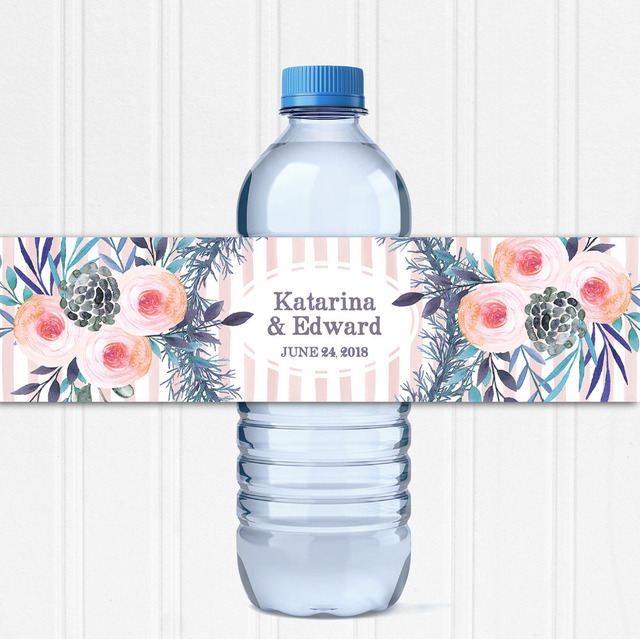 Water Bottle Name Tags: Customized Sunflower Personalized Water Bottle Labels