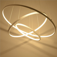 Modern pendant lights for living room dining room Kitchen Circle Rings acrylic body Pendant Lights Hanging ceiling Lamp fixtures modern pendant lights for living room dining room circle rings 3 rings 4 rings acrylic aluminum body led ceiling lamp fixtures