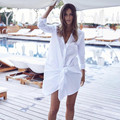 Dress de las mujeres 2017 del resorte largo de la manga floja dress mujer de descubierta cuello irregular lo sexy dress de manga larga blanco negro vestidos