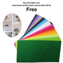 2mm Thickness Non Woven Fabric Cover Cloth 15 X 30cm Felt For DIY Project Eco-friendly 22 Color