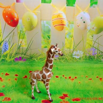 Simulation Giraffe polyethylene&furs Giraffe model funny gift about 20cmx30cm