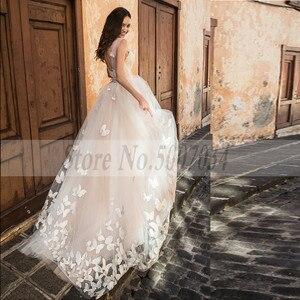 Image 5 - Smileven Boho 웨딩 드레스 2019 3D Appliques 신부 드레스 Vestido De Novia V 넥 나비 웨딩 드레스 Robe De Mariee