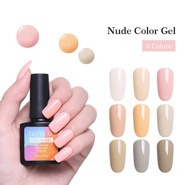 LILYCUTE 8ml Pink  90 Colors Gel Nail
