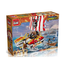 Enlightment 1312 Legendary Pirates of the Caribbean Metal Marines Minifigures Building Block Best Toys