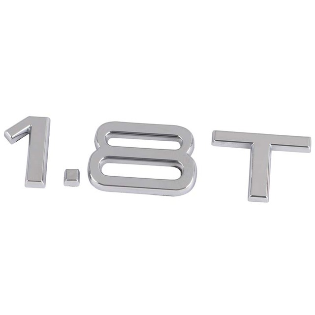 Car Emblem T T Letters Badge Auto Rear Trunk Decal Sticker - Audi car emblem