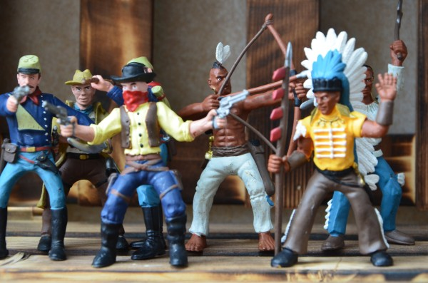 pvc figure Simulation Doll Model Toys Character Decoration Indian Soldier DIY Scene 5pcs set simulation model toy scene decoration cowboy pvc figure rare out of print