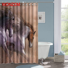 WONZOM New Arrival Animal Shower Curtains with 12 Hooks For Bathroom Decor Modern Bath Waterproof Curtain Accessories