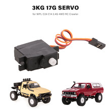 RC Auto 3 KG 17g Servo voor WPL C24 C14 2.4G 4WD RC Crawler RC Auto RC Speelgoed onderdelen(China)