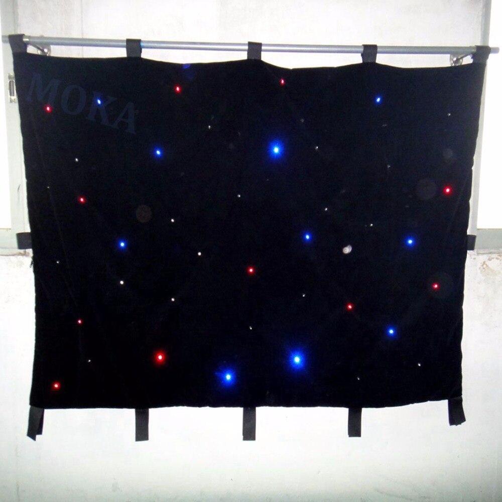 9a78e9417 2 متر * 4 متر بقيادة الستار النسيج ، جودة عالية السطوع 160 قطع المصابيح  rgbw اللون نجمة خلفية ، rgb led ستار القماش