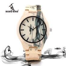 BOBO PÁJARO Reloj Para Hombre Diseño de la Pintura de Tinta Todo Relojes para Hombres en caja De Regalo De Madera De Madera De Arce
