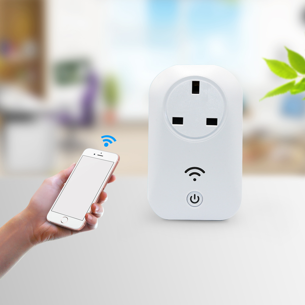 fashion smart home UK Standard 13A White wifi wall socket app control power socket wifi electrical outlet For digital cell phone british mk british unit power supply socket metal 13a power outlet british standard unit socket