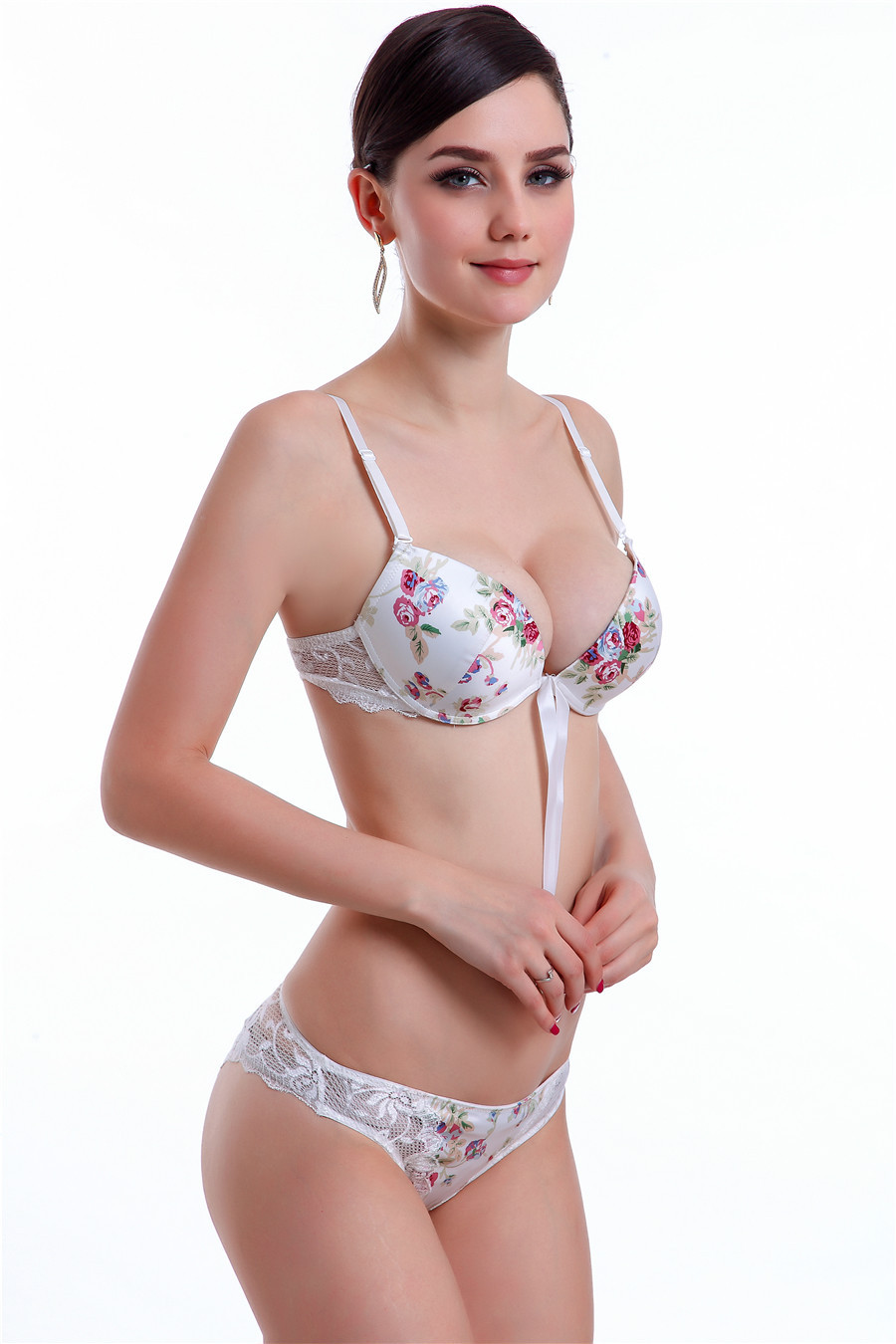 Junior girl underwear model bra panties