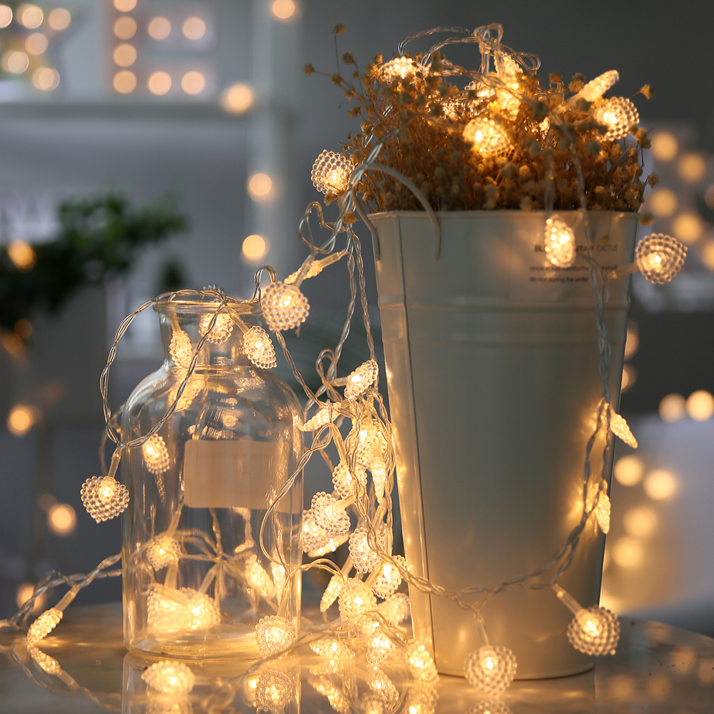 8M 50LED small love heart LED Lamp Battery Christmas String Fairy Lights for Wedding Christmas party curtain decoration artificial christmas tree christmas decorations for home great wedding celebration product door decoration 3 8m led lamp h315