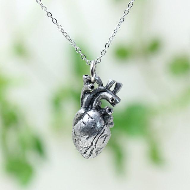 Online Shop Punk Anatomia Heart Pendant Anatomy Jewelry Anatomical ...