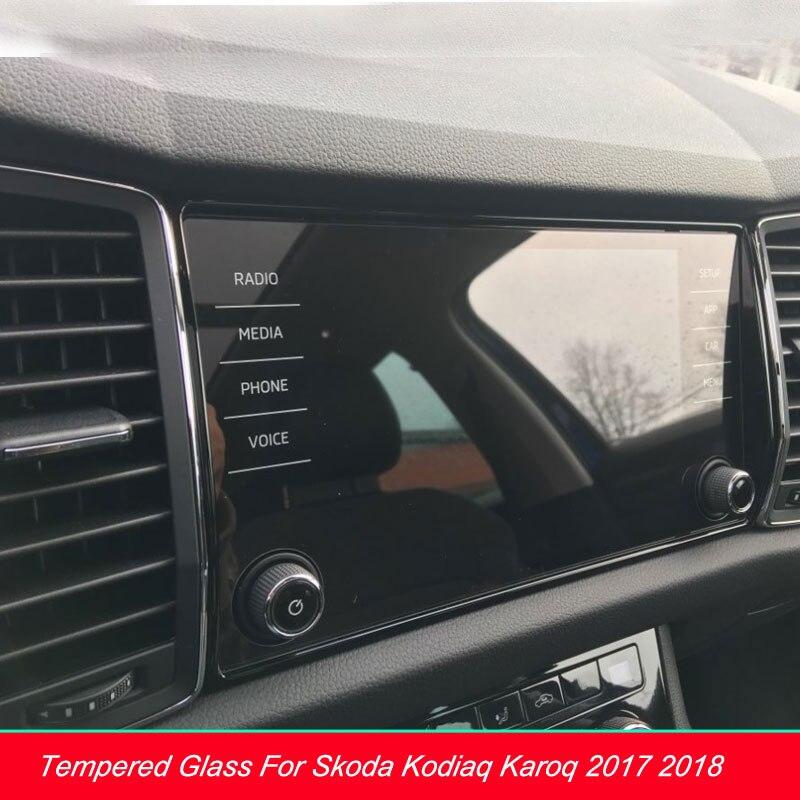 Защитная пленка из закаленного стекла для Skoda Kodiaq Karoq 2017-2018, 8-дюймовый экран с GPS навигацией