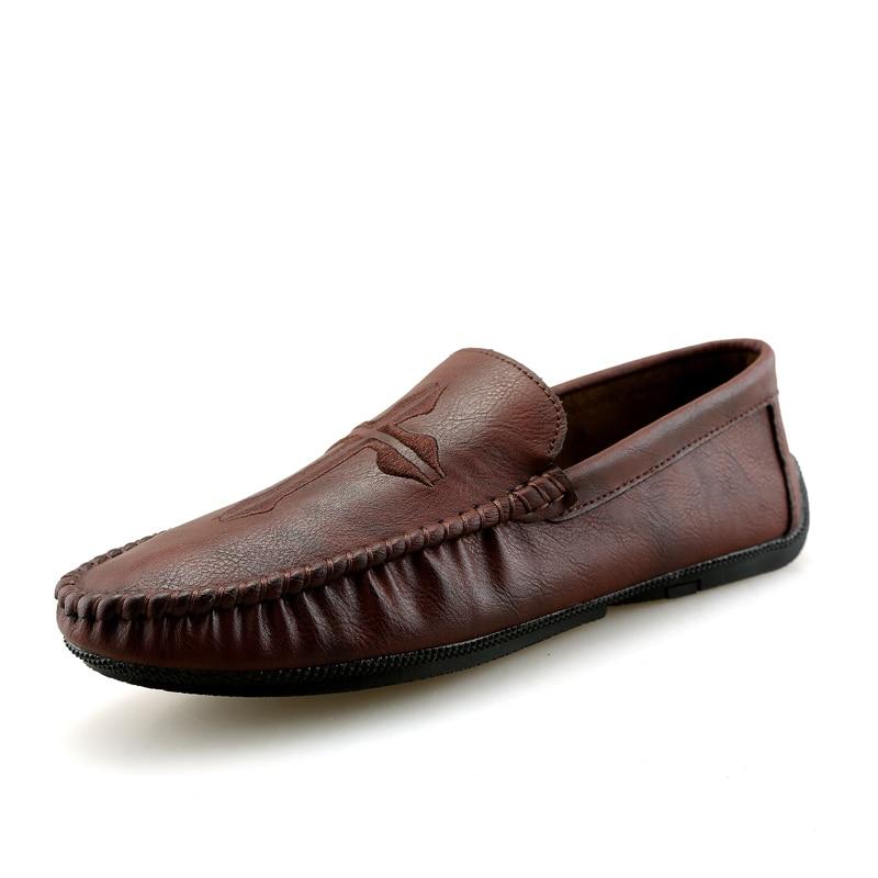 VKERGB hommes chaussures plates en cuir chaussures hommes mocassins chaussures plates pour homme respirant confortable décontracté hommes chaussures plates mode pois chaussures