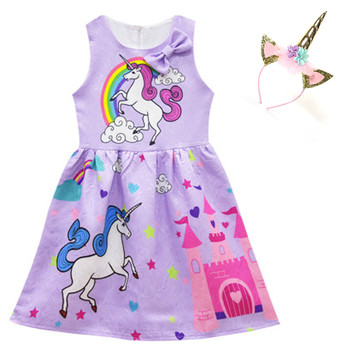 Unicorn Princess Dress and Headband