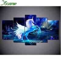 YOGOTOP Diamond Embroidery Unicorn Horse 5pcs Set 5D DIY Diamond Painting Cross Stitch Diy Square Mosaic