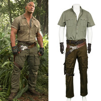 Jumanji: Welcome to the Jungle Cosplay Spencer Costume Halloween Christmas Game Cosplay Adult Men Costume Army Uniform Full Set