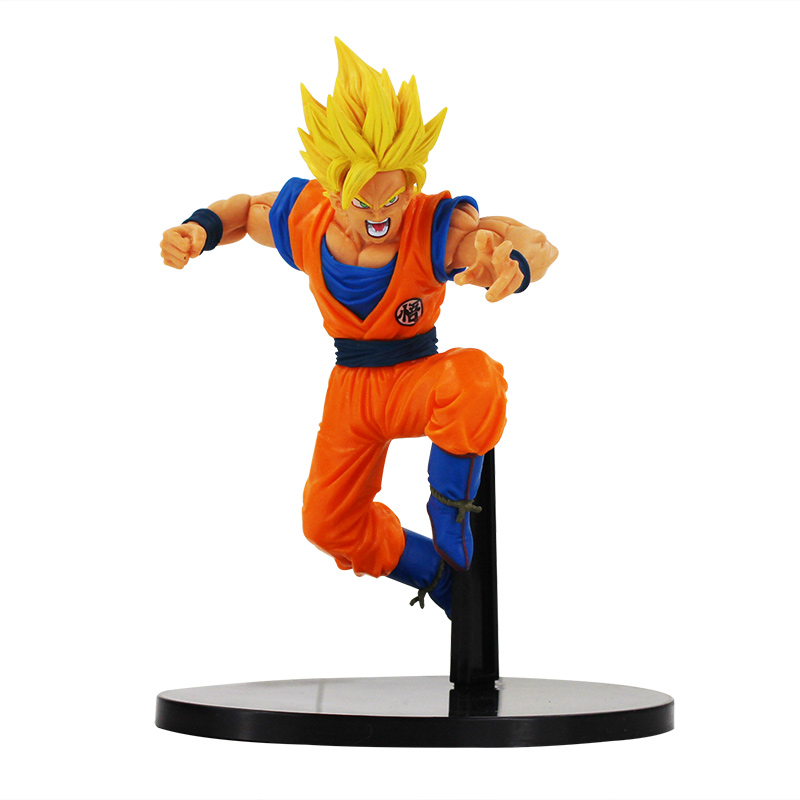 1pcs 17cm Dragonball Dragon Ball Z Son Goku Super Saiyan 2 jump PVC Action Figure font