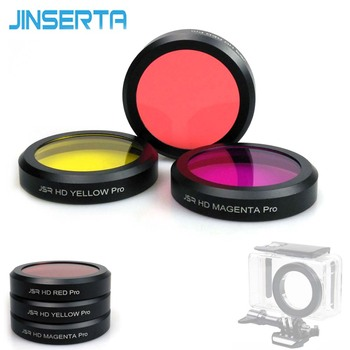 JINSERTA Yellow Red Magenta Dive Filter for Xiaomi mijia Waterproof case Lens Cover Filters for Xiaomi Camera Accessories