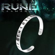 KLDY Nordic viking rune bracelet bangle adjustable amulet cuff with valknut stainless steel quality men jewelry wholesale