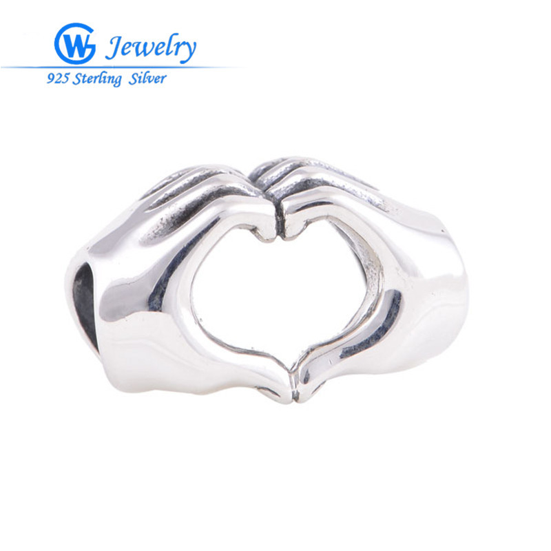 Friendship charm European beads 925 sterling silver diy beads Fits bracelets GW Fashion Jewelry T074H10