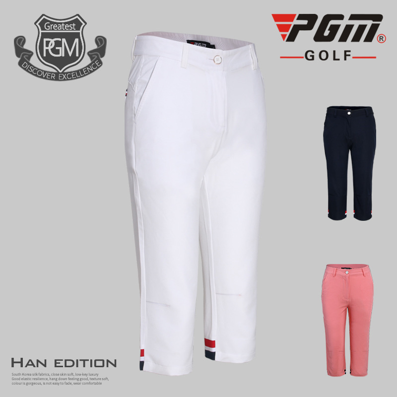 2018 PGM new summer Golf Clothing Golf Ladies breathable suit Short Sleeved shirt and Cropped trousers for women size XS-XL