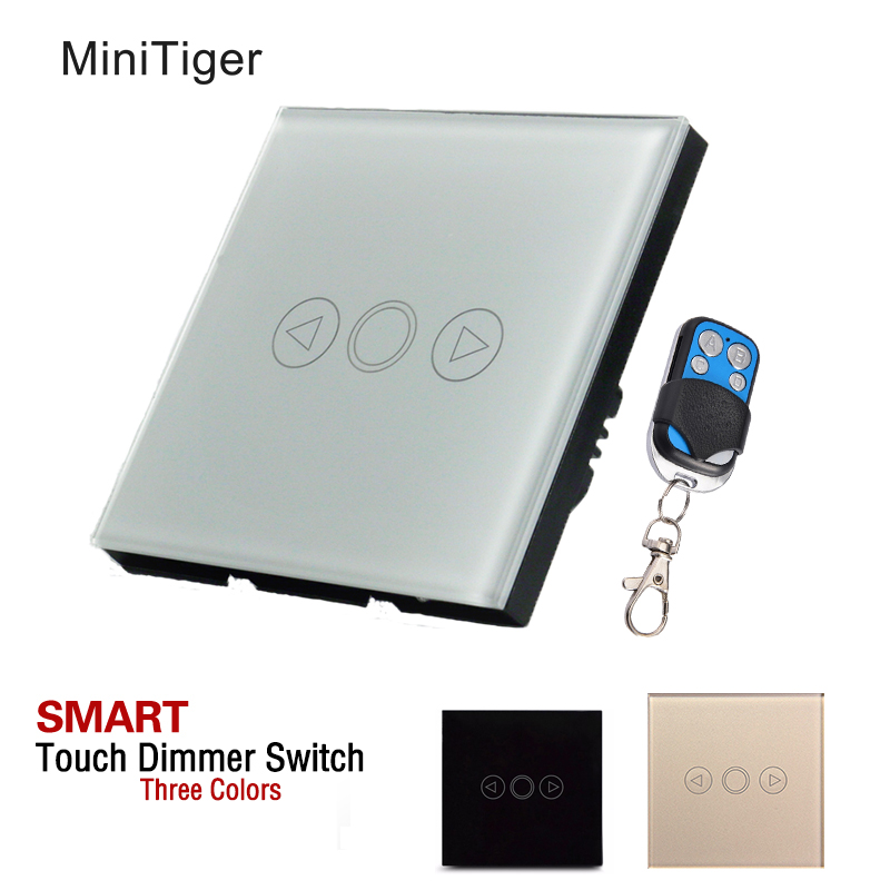 MiniTiger 1 Gang EU Standard Wall Light Touch Dimmer Switch Smart Switch,LED Dimmer Switch For Dimmable Spot Lights,T601A,T601B minitiger 1 gang eu standard wall light touch dimmer switch smart switch led dimmer switch for dimmable spot lights t601a t601b