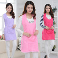 High quality new design elegant purple overall cute pocket restaurant nail Salon manicurist apron